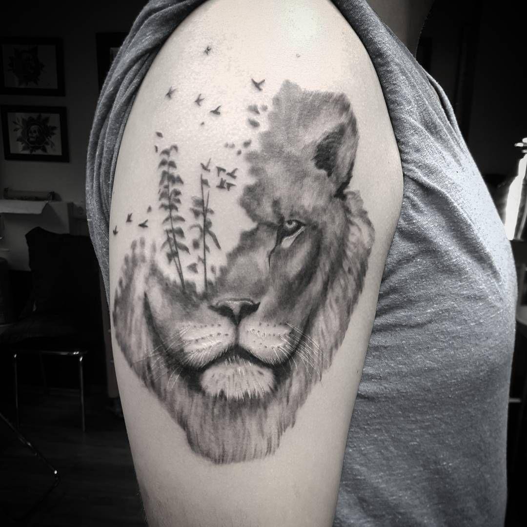 Did a lion today #reykjavikink #olafia_k #tattoo #tattoos #ink #inked