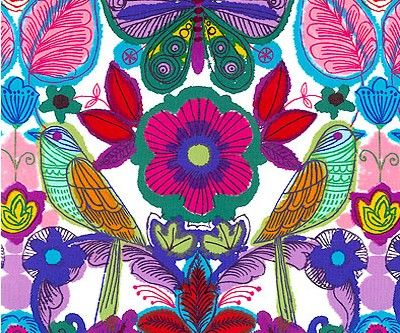Querida Bright Mexican Cotton Fabric by Alexander Henry