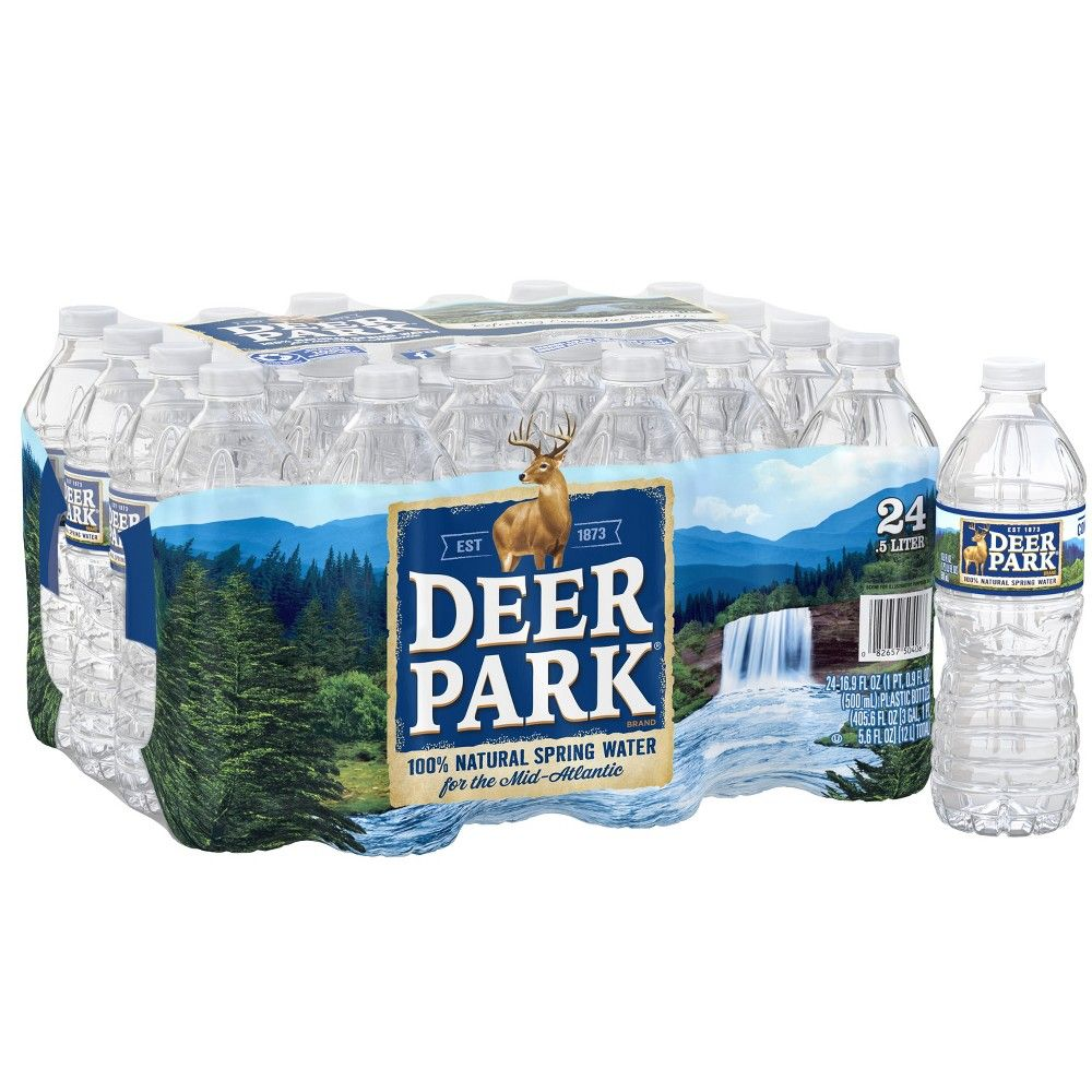 Deer Park Brand 100 Natural Spring Water 24pk 16 9 Fl Oz Bottles Natural Spring Water Deer Park Water Spring Water