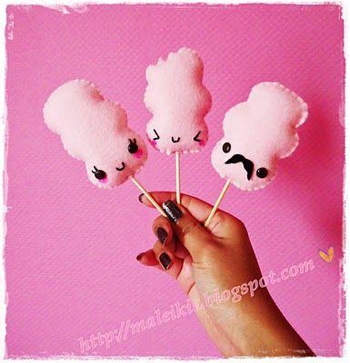 "Chunkylicious ♥ Kawaii crafts ♥: Cute craft: felt ""Cotton candy"""