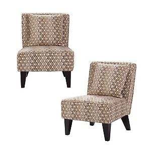 Pair of Celia Chairs/Pillows - Hoops Mystic at HSN.com.