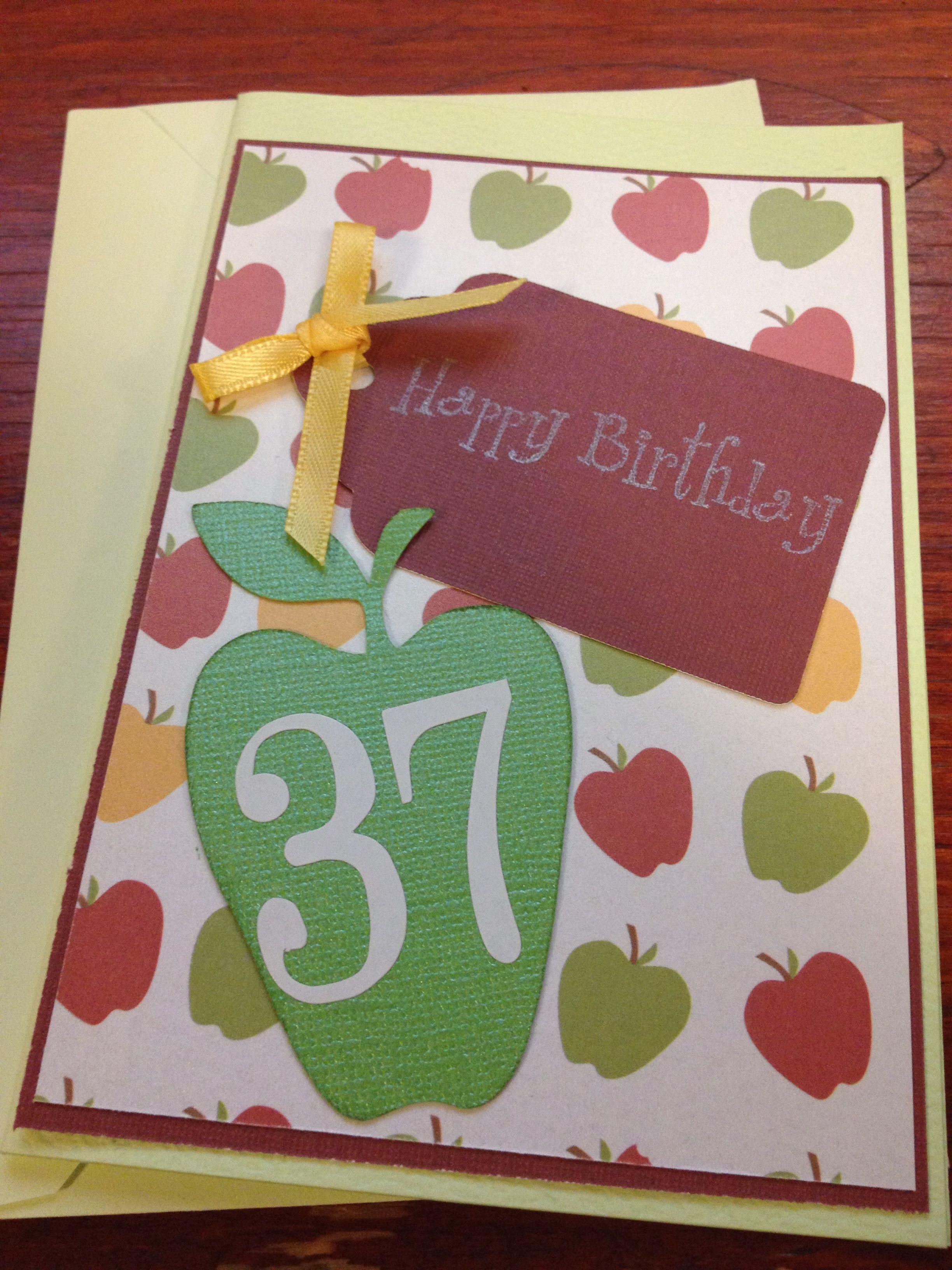 Happy 37th Birthday Card Handmade By Kjones