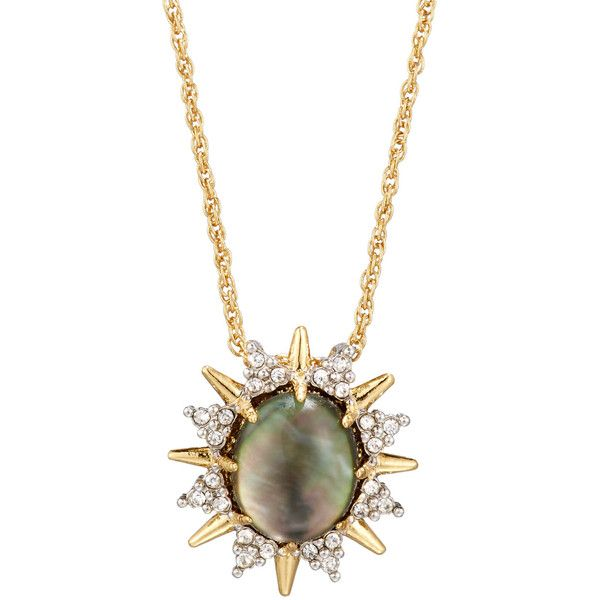 Alexis Bittar Spiked Crystal Doublet Pendant Necklace ($81) ❤ liked on Polyvore featuring jewelry, necklaces, no color, crystal jewelry, crystal necklace, pendant necklaces, crystal necklace pendant and crystal pendant jewelry