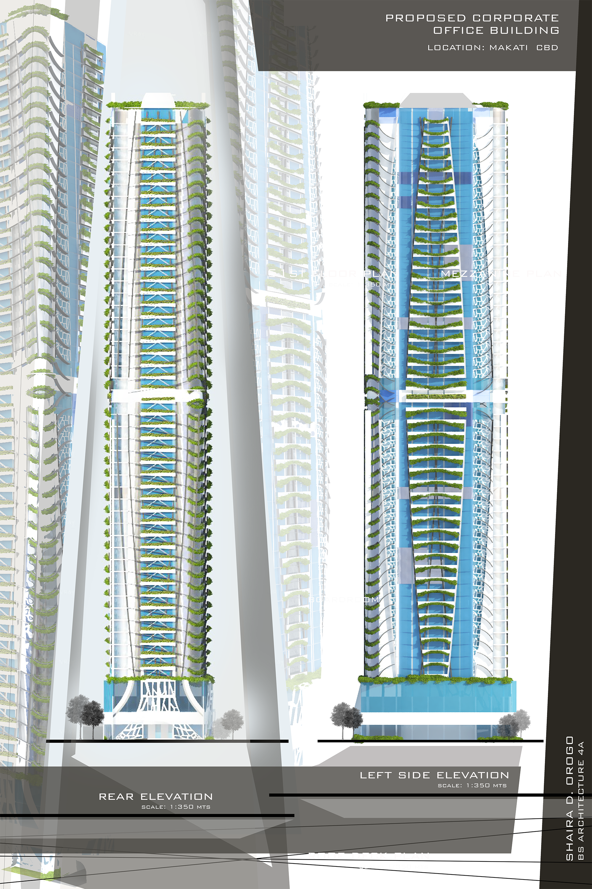 Design 8 proposed corporate office building high rise for Modern high rise building design
