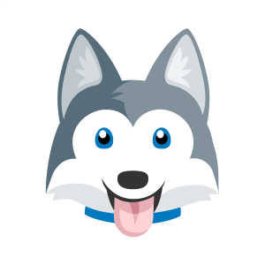 husky cartoon Google Search Puppy cartoon, Dog crafts