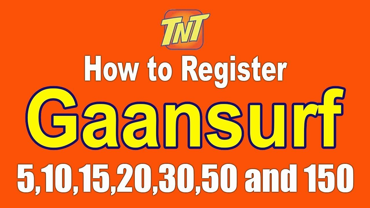 How To Register Gaansurf 5 10 15 20 30 50 And 150 Talk N Text Promo In Text Philippines Talk