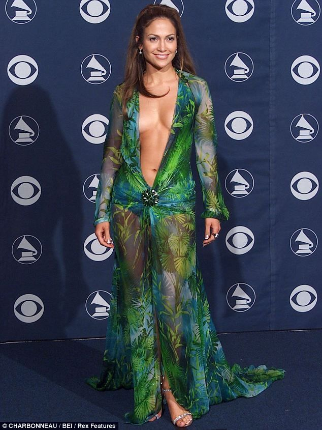 b2873c3ab526 Jennifer Lopez in Versace gown back in 2000 at the Grammy Awards. I have  always LOVED this dress.
