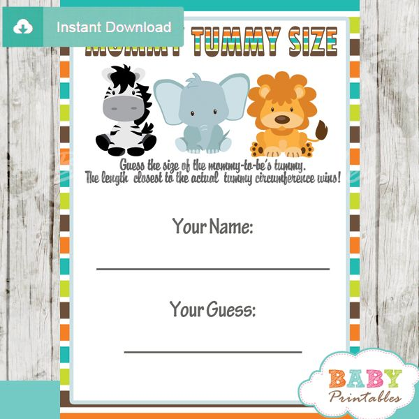 Safari Themed Baby Shower Games Jungle Theme Baby Shower Games