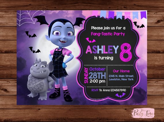 Vampirina Halloween Party 2020 Ny Vampirina Invitation   Vampirina Birthday Party   Vampirina