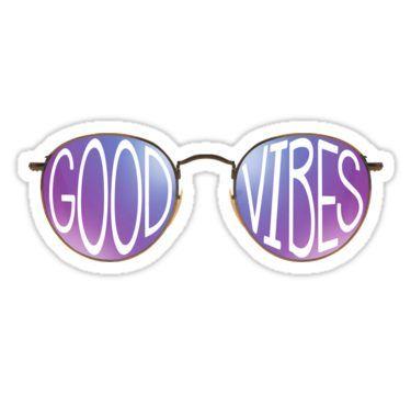 4dbc6dd9c7 Good Vibes Sunglasses Sticker