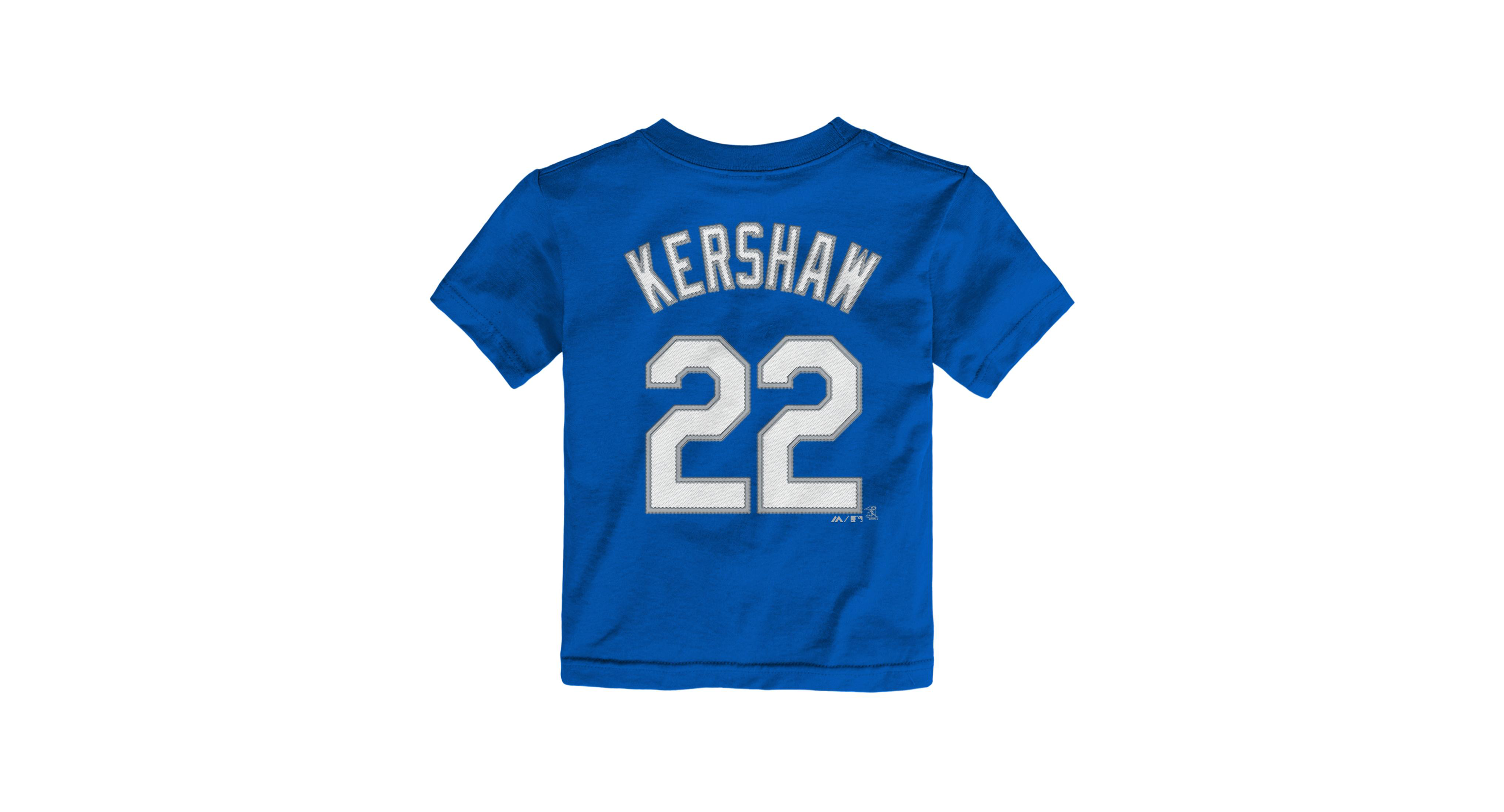 14ef32e4998 Majestic Toddlers  Clayton Kershaw Los Angeles Dodgers Player T-Shirt