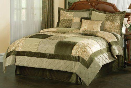 Green Garden Comforter Set With 4 Bonus Pieces , Queen By PemAmerica.  $139.99. Dry