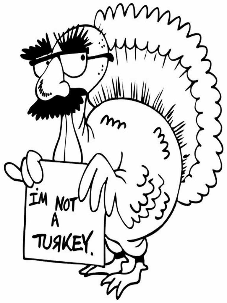 Printable Thanksgiving Coloring Pages Turkey Coloring Pages