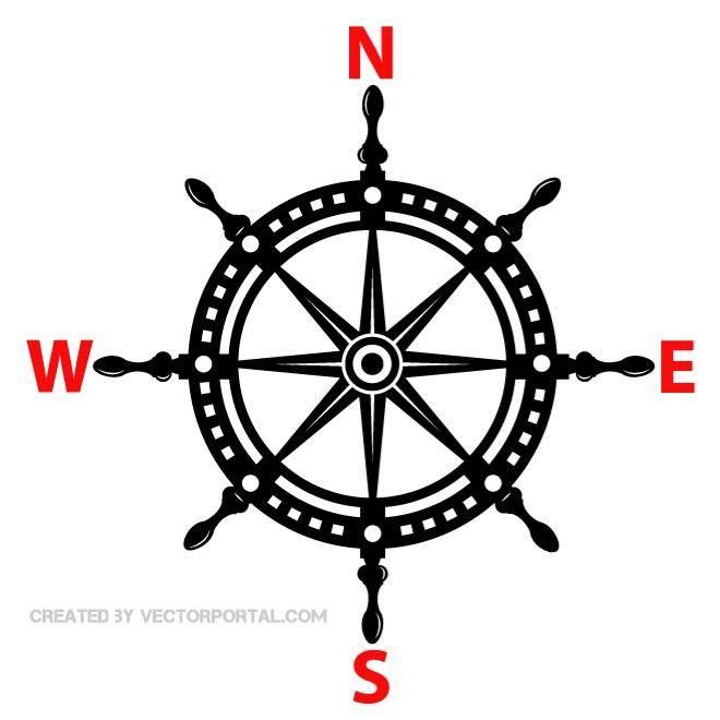Ship Helm Vector Image Compass Rose Tattoo Compass Tattoo Ship Helm