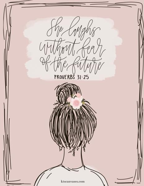 Proverbs 31:25 Woman Art Print