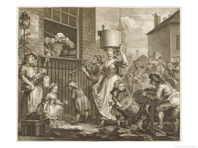 The Enraged Musician Disturb Hogarth Giclee Print by William Hogarth - AllPosters.co.uk