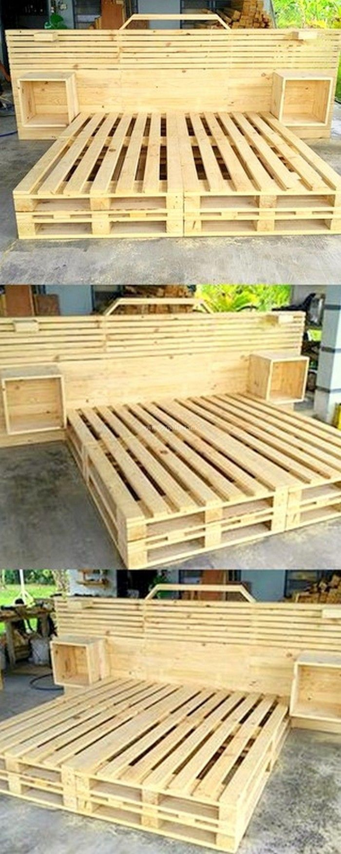 Houten Meubels Slaapkamer Awesome Pallets Beds Recycling Pallets Crates Etc Pinterest