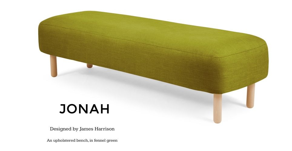 Polsterbank Schlafzimmer ~ Jonah upholstered bench in fennel green £269 made.com syniadau ty