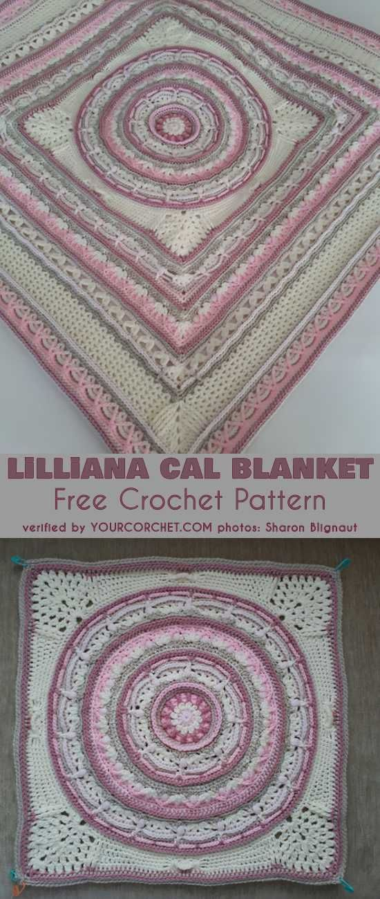 Lilliana Crochet Blanket Free Pattern   Häkeldecke und Häkeln