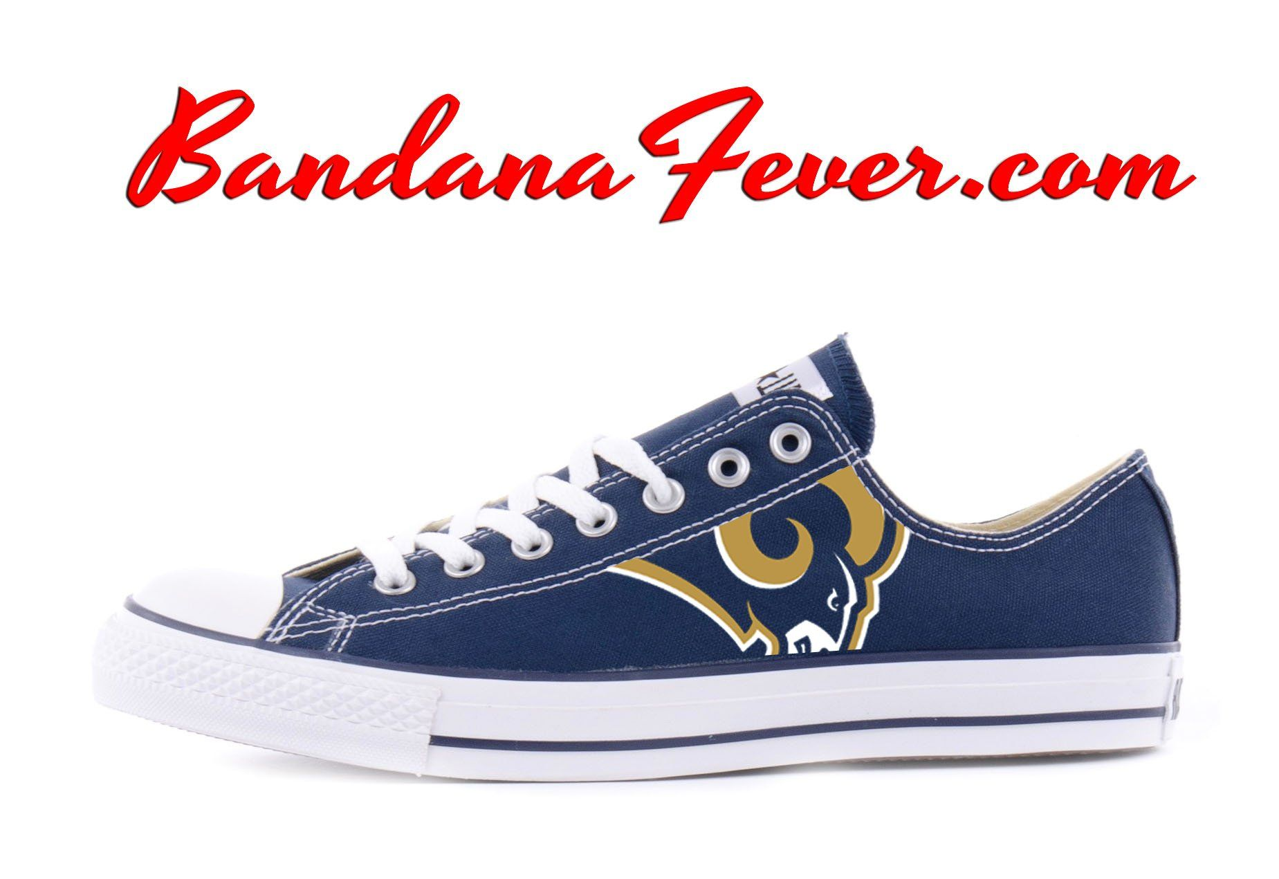 Customized LA Rams Converse Sneakers 257e2441b02e