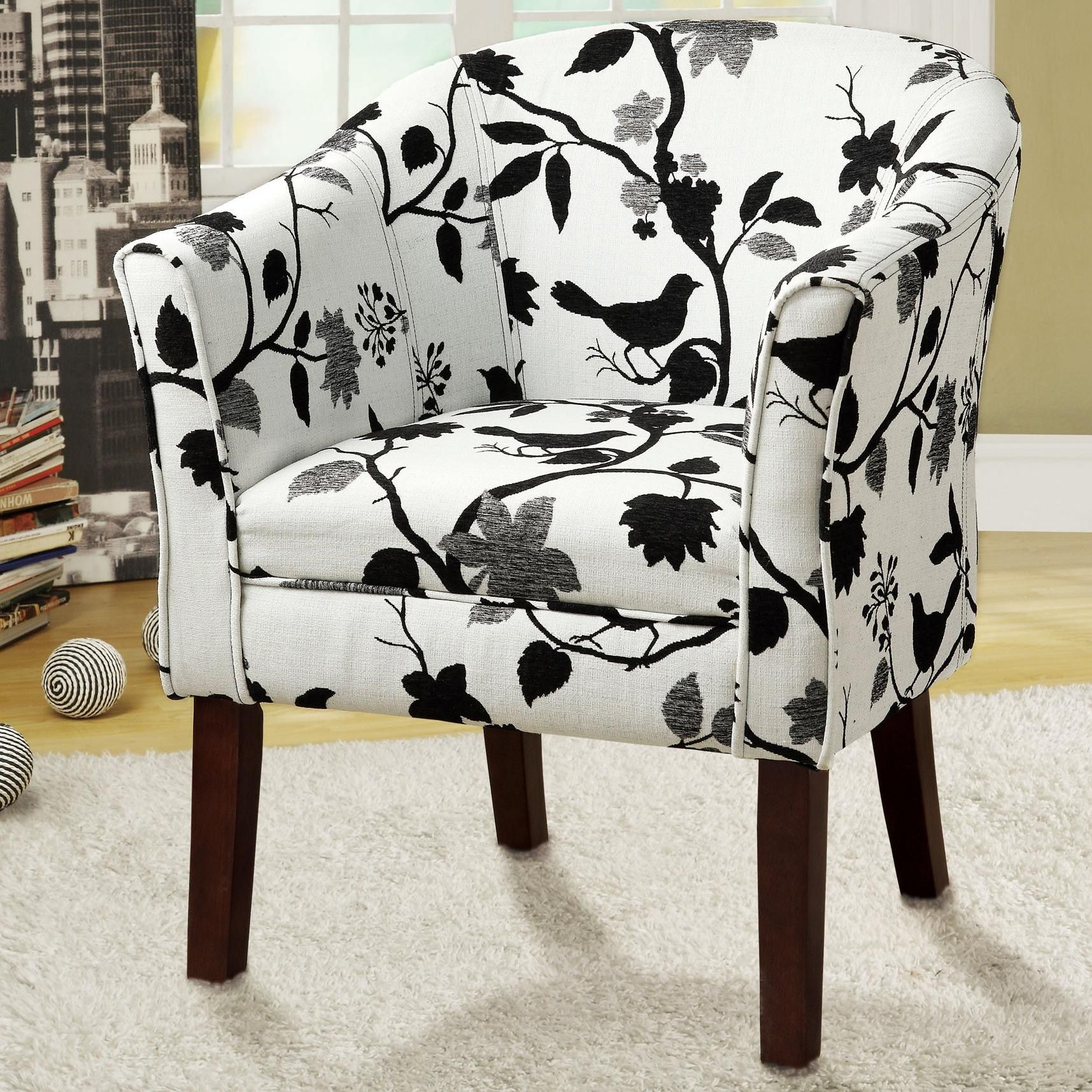 Black And White Striped Encore Wingback Chair 125 Available