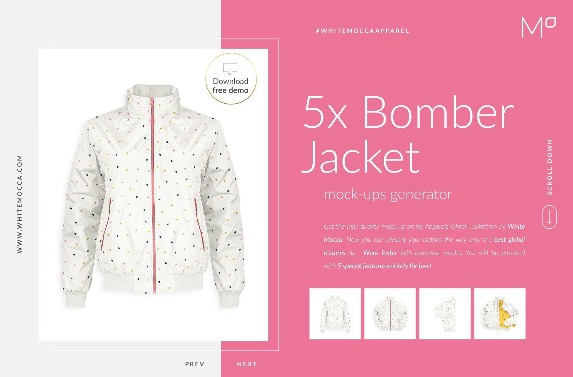 Download Bomber Jacket Ghost Mockups Set Free Bomber Jacket Selling Photos Mocking