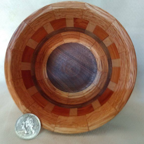 Handcrafted Wood Bowl Walnut Cherry Oak In 2019 Products