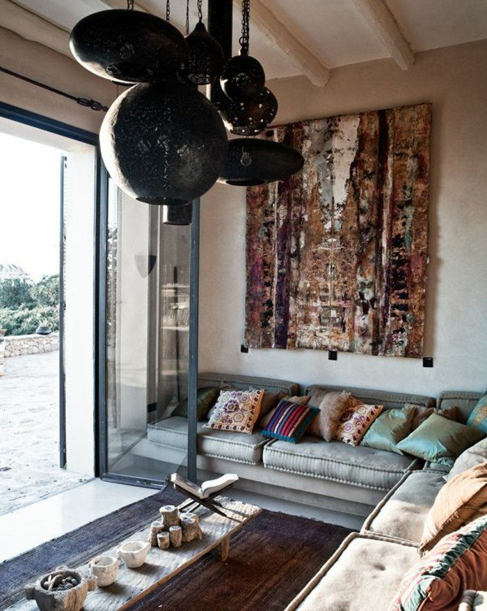 Le canapé marocain qui va bien avec votre salon Saon marocain - decoration de salle de sejour