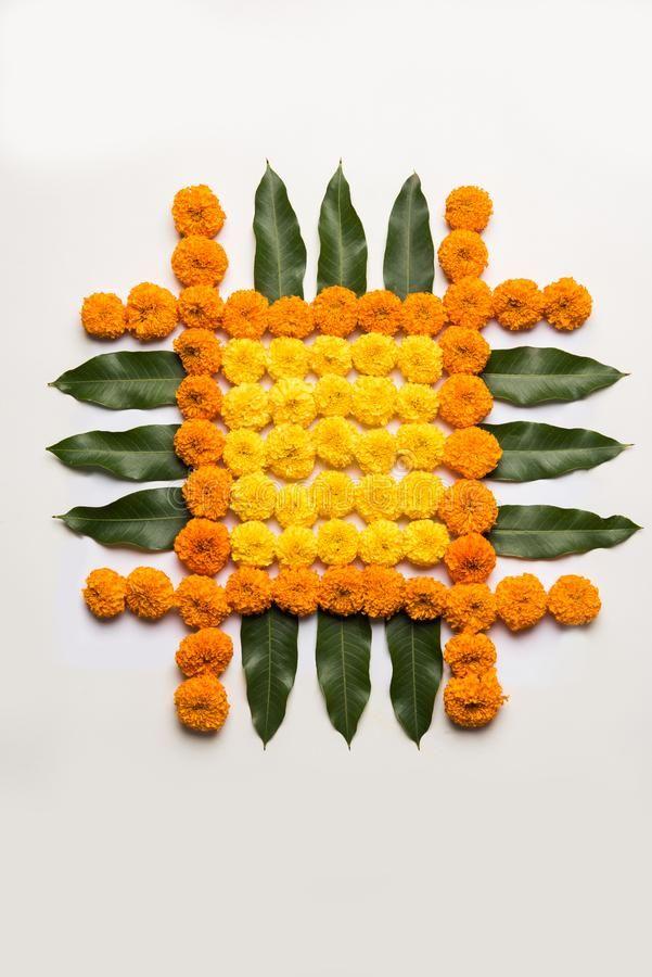 Flower Rangoli For Diwali Or Pongal Or Onam Made Using Marigold Or Zendu Flowers Affiliate Ma Flower Decorations Diy Flower Rangoli Rangoli Designs Flower