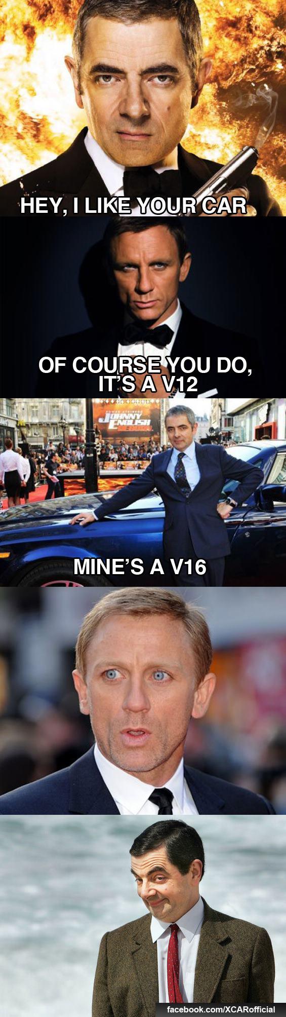 Johnny English Vs James Bond Johnny English Belly Laughs English Memes