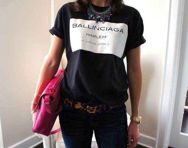 e344dcfdd4b7 Indie Designs Parody Balenciaga Ballinciaga Harlem Print T-Shirt ...