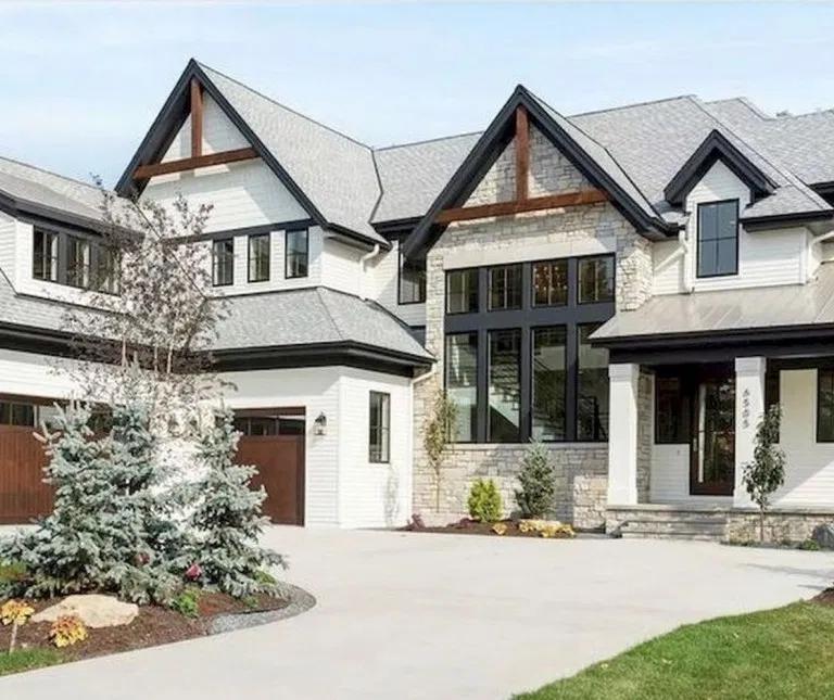 38 fantastic farmhouse exterior design ideas that looks on beautiful modern farmhouse trending exterior design ideas id=77035
