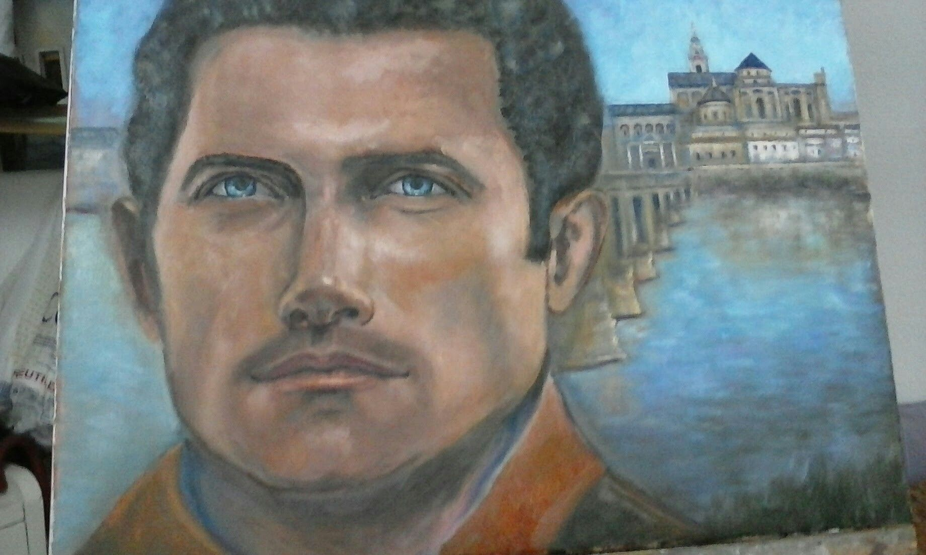 Oleo sobre lienzo M. Valencia Gacto