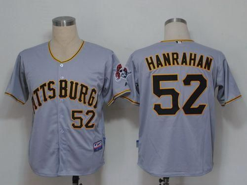 Pirates #52 Joel Hanrahan Grey Cool Base Embroidered MLB