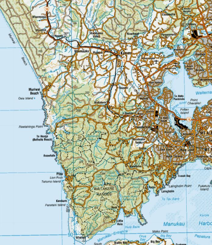 NZ Topo Map. | West Auckland Maps, NZ History in 2019 | Map ...