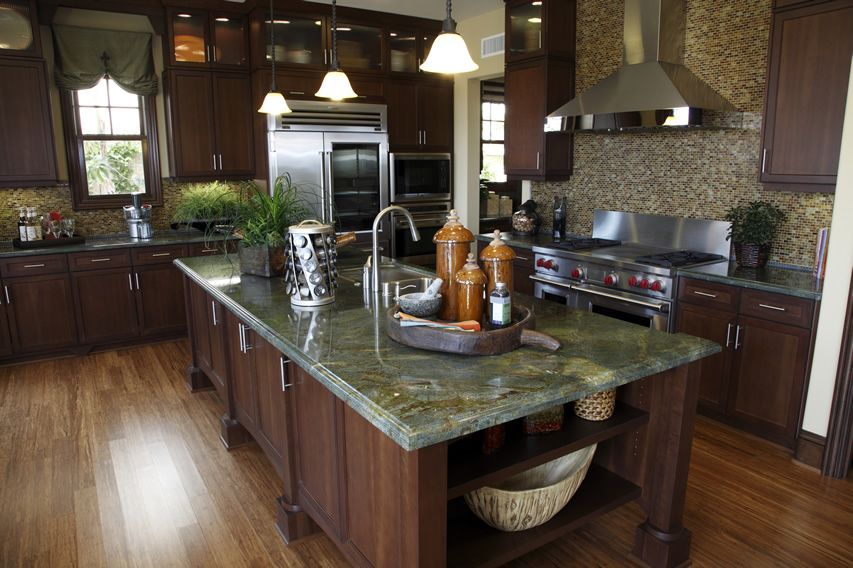 Green Granite Countertops (Colors & Styles) | Custom kitchens ...