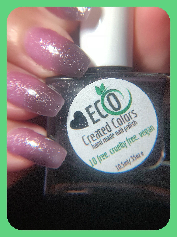 Thermal Glitter Changing Nail Polish Natural Eco 10 Free Nail Polish Vegan Nail Polish Handmade Custom Nail In 2020 Nail Polish Vegan Nail Polish Free Nail Polish