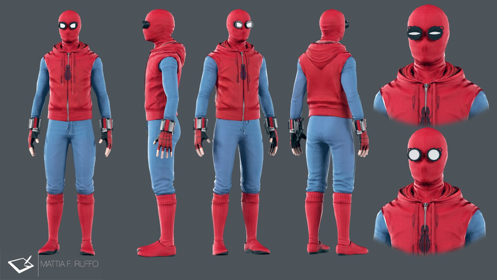 Spiderman Homecoming Homemade Suit Mattia F Ruffo On Artstation At Https Www Artstation Co Spiderman Homecoming Suit Spiderman Homecoming Spiderman Cosplay