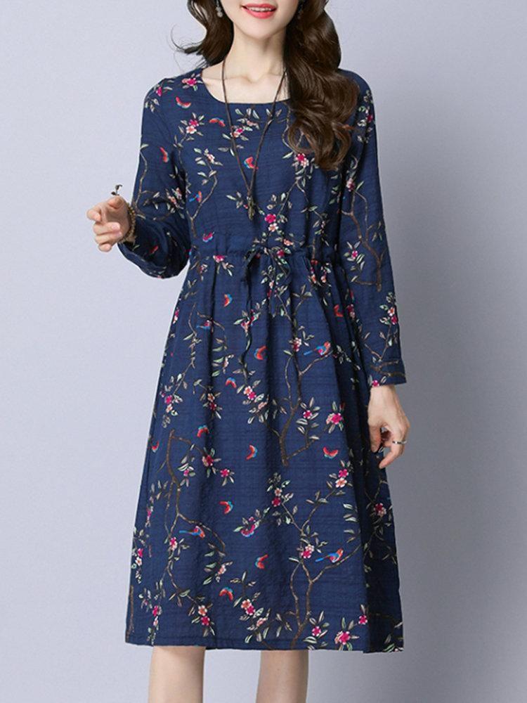 Specification Sleeve Length Long Sleeve Neckline O Neck Color Gray Navy White Size M L Xl Xxl Style Casual Loose Dress L Kiyafet Elbise Modelleri Bohem Elbise