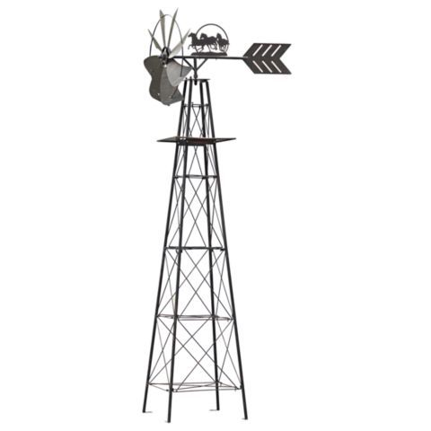 red shed antique finish windmill, 10 ft. - comes with horse or