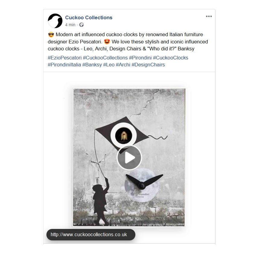 www.cuckoocollections.co.uk   #CuckooCollections  #eziopescatori  #Pirondini  #CuckooClocks  #PirondiniItalia  #Banksy  #Leo  #Archi  #DesignChairs