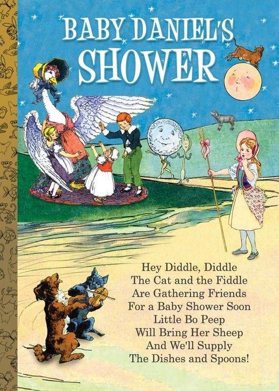 Mother goose invitation nursery rhyme invitation for baby showers mother goose invitation nursery rhyme invitation for baby showers or birthdays filmwisefo Images