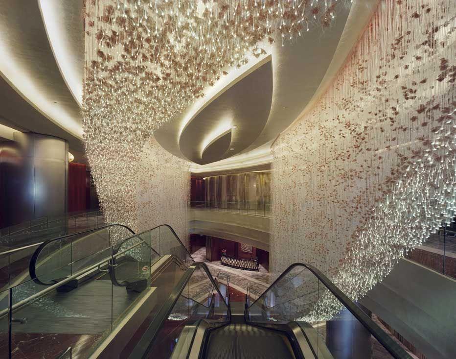 Sharon Marston - Custom April-Autumn Light installation for Marina Bay Sands Casino in Singapore