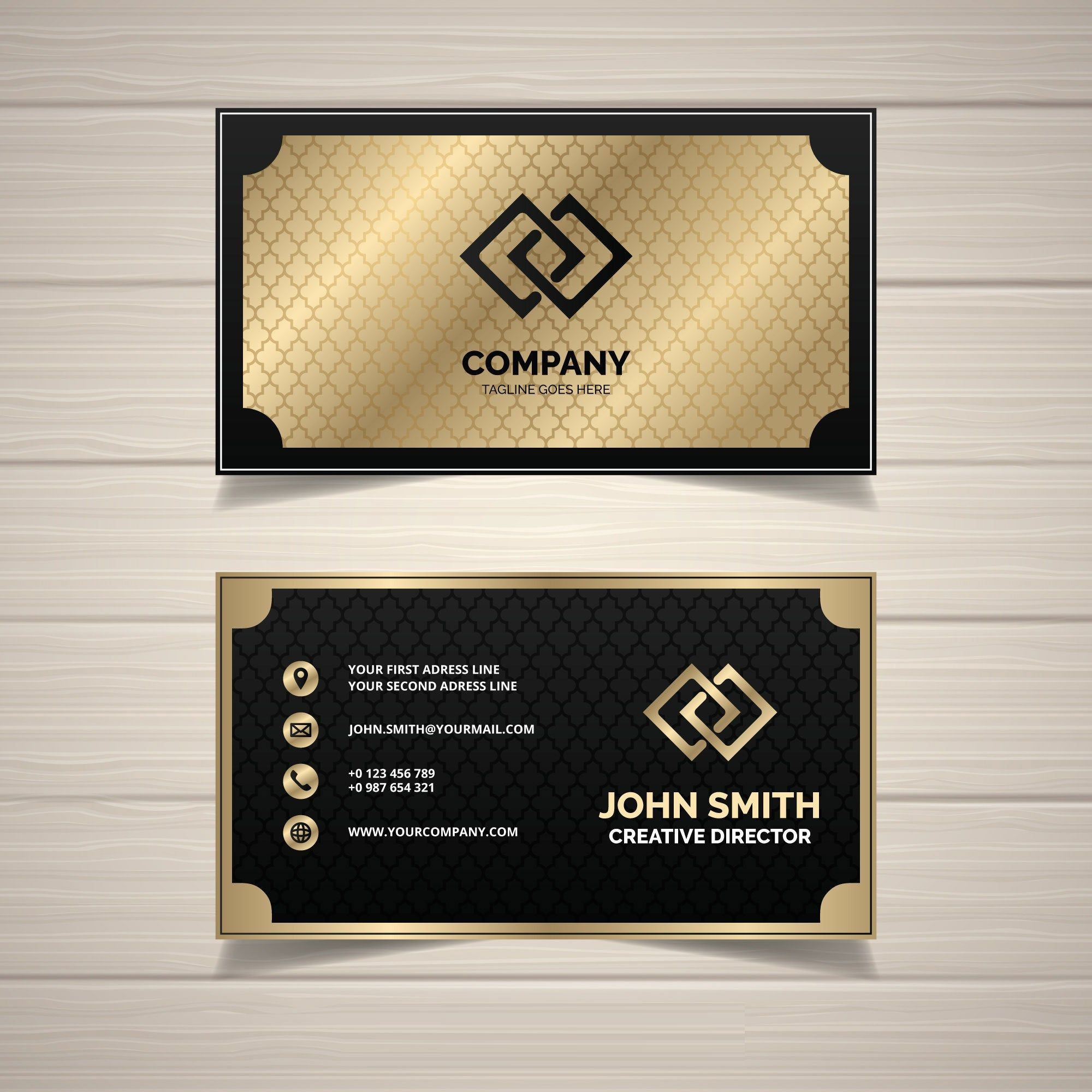Business Card Template Gold Luxury Business Card Design Business Card Template Exclusive Stationary Template Corporate Branding Template Business Card Design Black Elegant Business Cards Design Business Card Design Creative