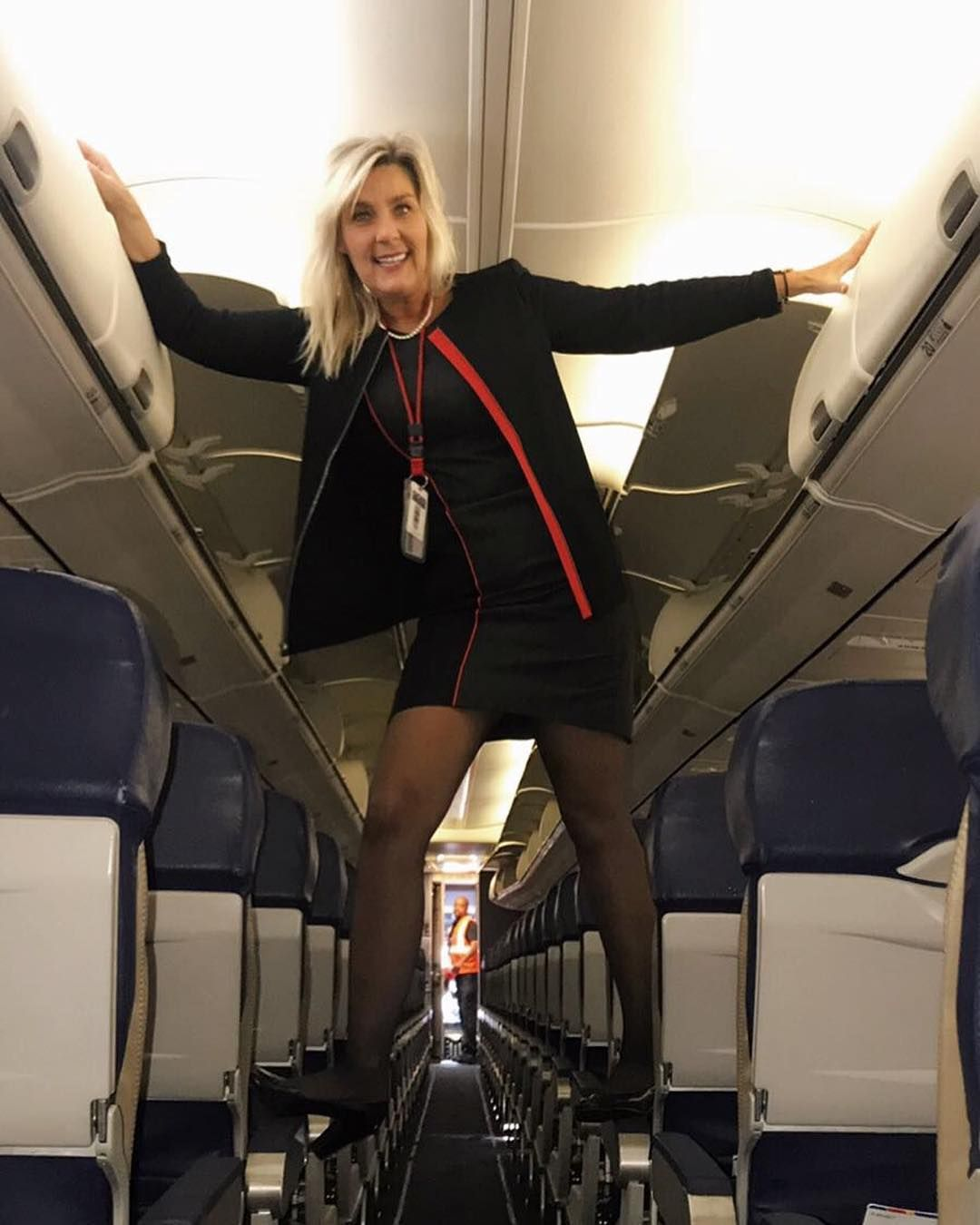 "Airline Milf give up, or i'll jump on you!"" she said to the young and"