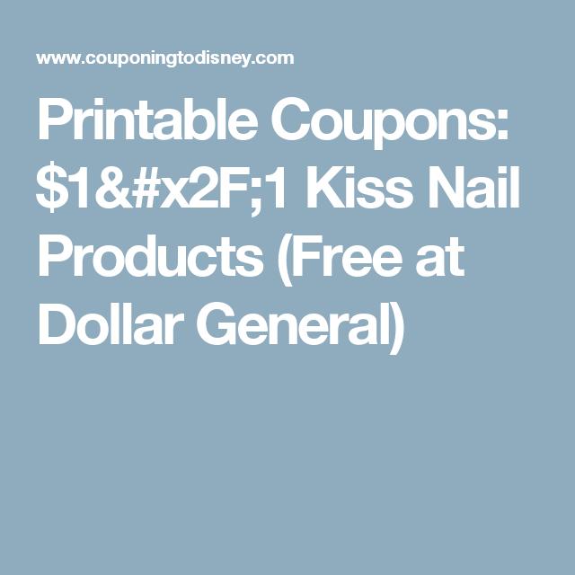 Printable Coupons: $1/1 Kiss Nail Products (Free at Dollar General ...