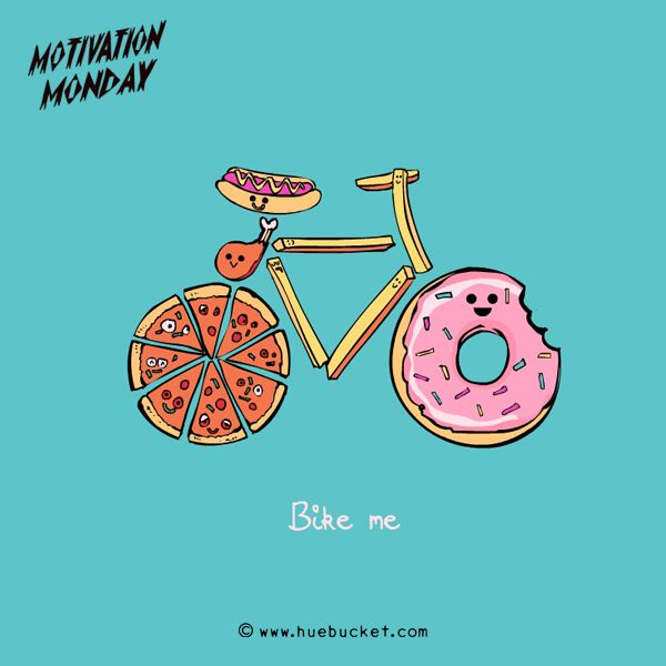 """""""Bike Me"""" (I'm not a fan of donuts, but this one is cute.)"""
