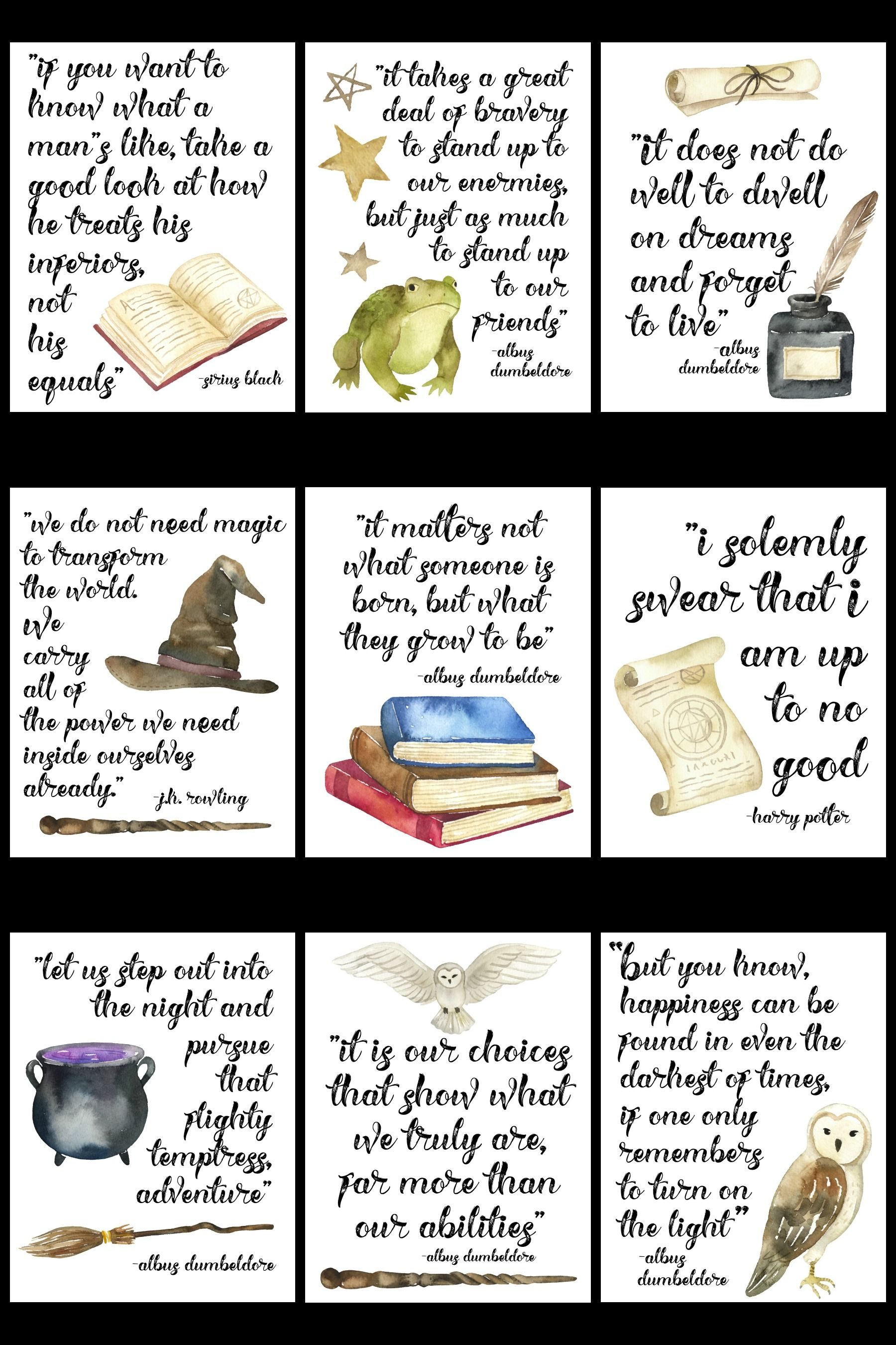 Free Printable Famous Harry Potter Quote Series | The Happy Housie