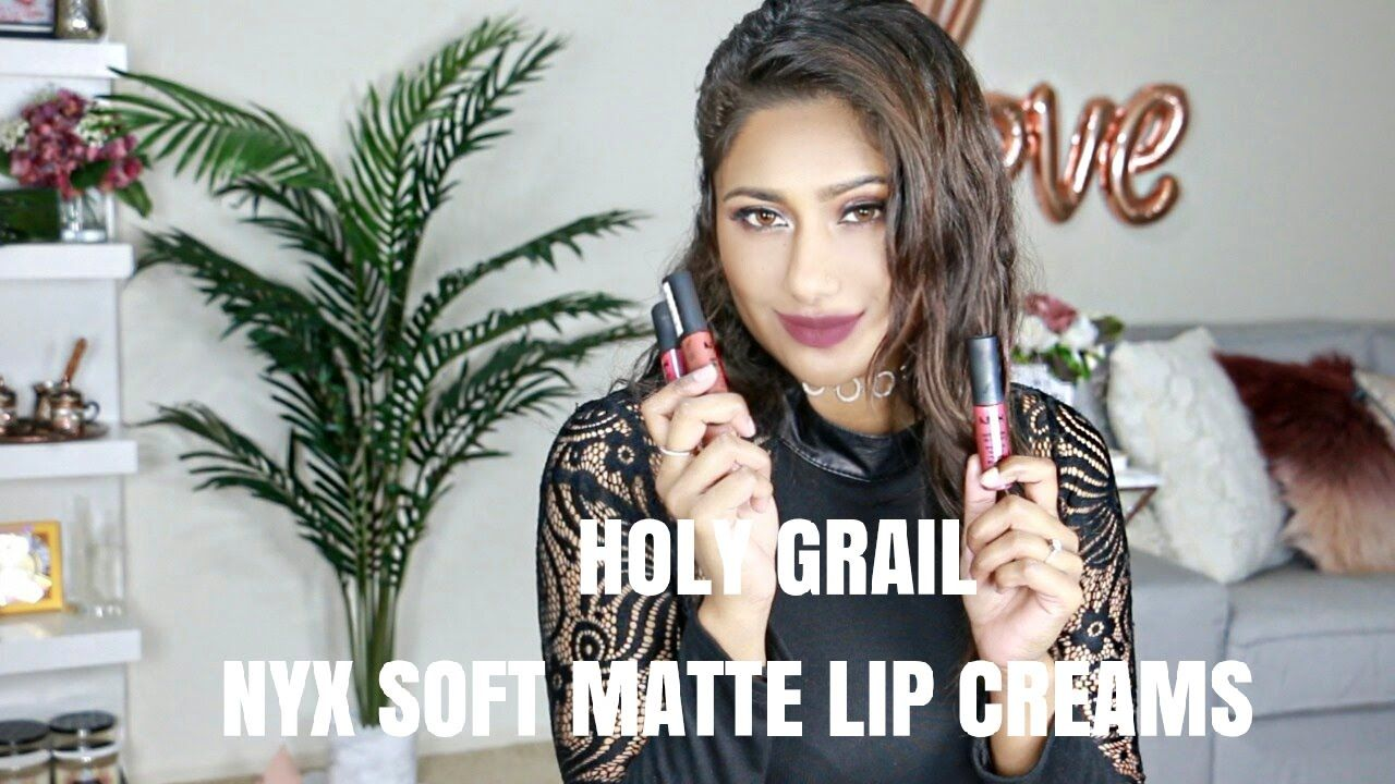 NYX SOFT MATTE LIP CREAMS SWATCHES FOR TAN/INDIAN/MEDITERRANEAN/OLIVE SK...