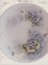 Violets by Wanda Clapham  China Painting Study 1965